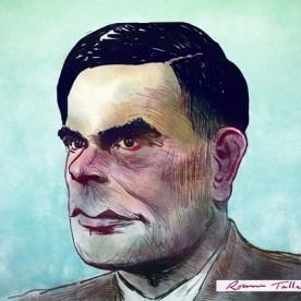 Alan Turing by Rowan Tallant