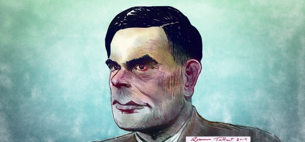 Alan Turing by Rowan Tallant