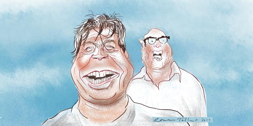 Masterchef: John Torode and Gregg Wallace by Rowan Tallant