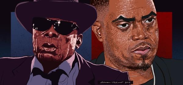 John Lee Hooker and Nas by Rowan Tallant