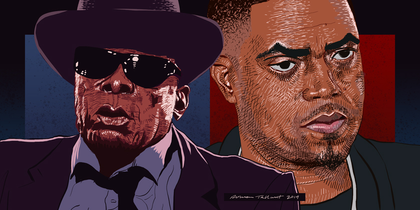 John Lee Hooker and Nas by Rowan Tallant