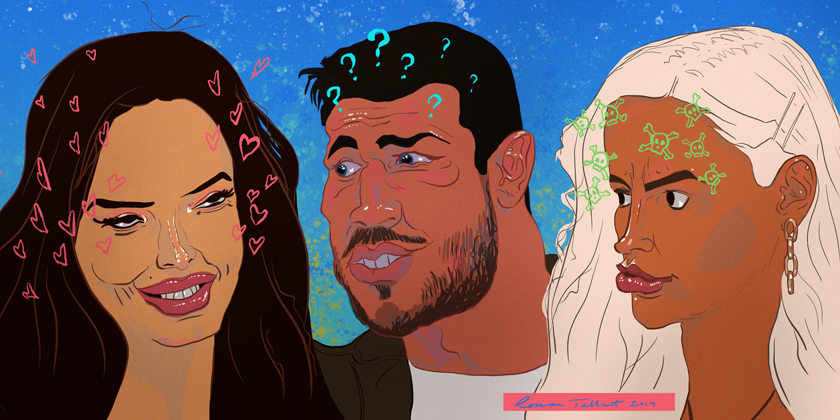 Love Island: Maura, Tommy and Molly-Mae by Rowan Tallant