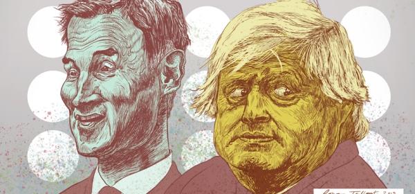 Jeremy Hunt and Boris Johnson by Rowan Tallant