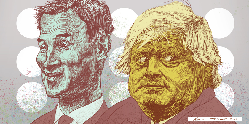 Jeremy Hunt and Boris Johnson by Rowan Tallant